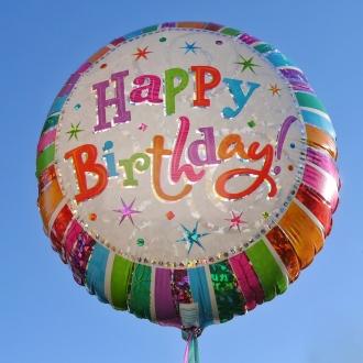 ballong och tal till födelsedagen